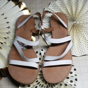Lucky Brand Strappy White Sandals size 11